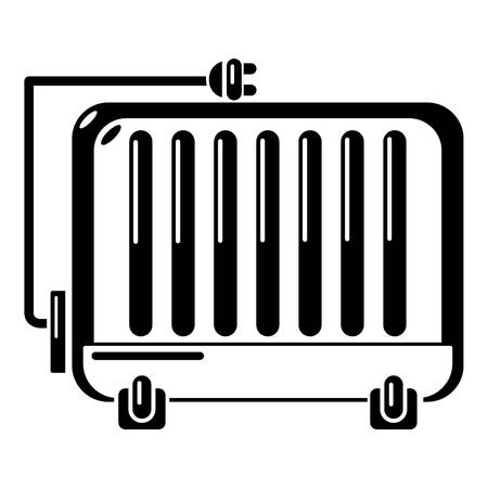 Electric battery icon. Simple illustration of electric battery vector icon for web.