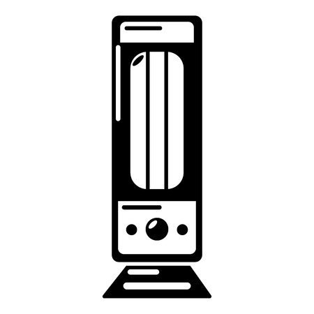 Oil heater icon. Simple illustration of oil heater vector icon for web.