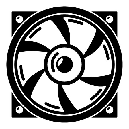 Thermal fan icon. Simple illustration of thermal fan vector icon for web. Illustration