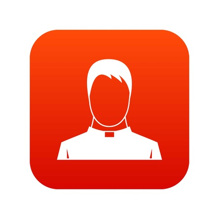 Priest icon digital red for any design isolated on white vector illustration Ilustração