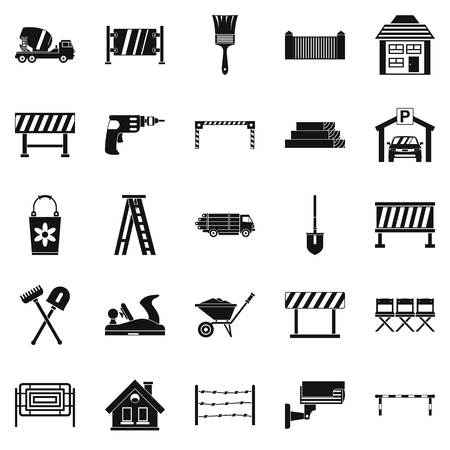 Security icons set. Simple set of 25 security vector icons for web isolated on white background Illustration