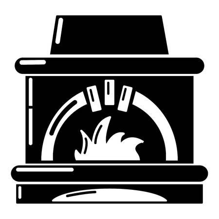 Blast furnace icon, simple style. Ilustração