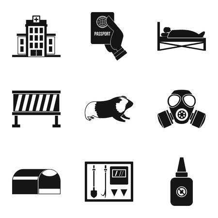 Helping icons set. Simple set of 9 helping vector icons for web isolated on white background Vettoriali