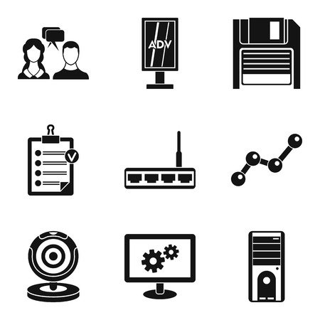 Help desk icons set. Simple set of 9 help desk vector icons for web isolated on white background