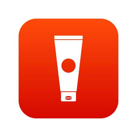 Cream tube icon digital red for any design isolated on white vector illustration
