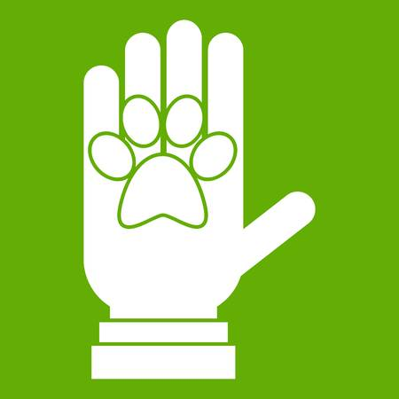 Donations for pets icon green