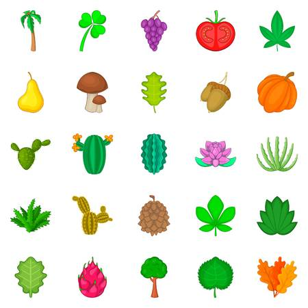 Sow the field icons set. Cartoon set of 25 sow the field vector icons for web isolated on white background Standard-Bild - 94372829