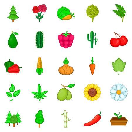 Grüne Weltikonen eingestellt. Karikatursatz von 25 grünen Weltvektorikonen für das Netz lokalisiert auf weißem Hintergrund. Standard-Bild - 94370195