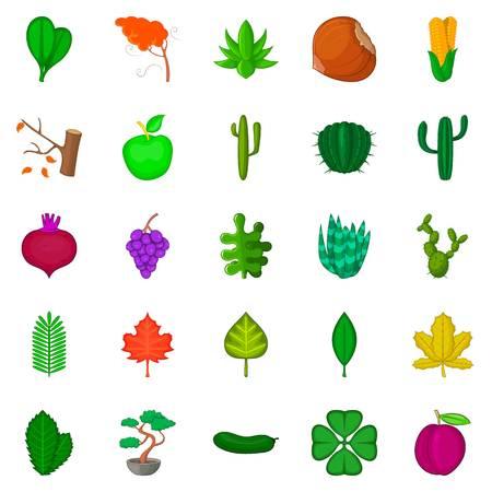 Green space icons set, cartoon style Standard-Bild - 94434172