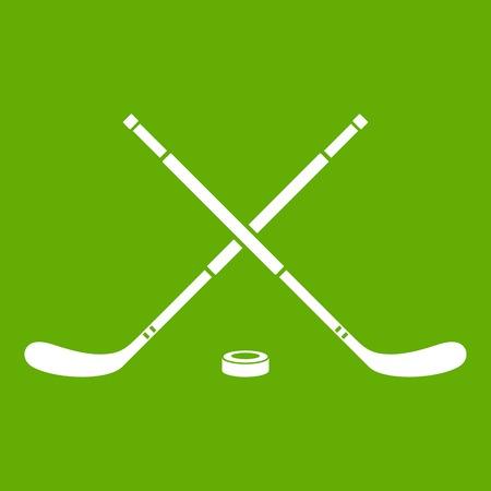 Hockey icon green background