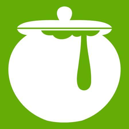 Honey pot icon green