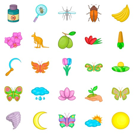 Heyday icons set. Cartoon set of 25 heyday vector icons for web isolated on white background Иллюстрация