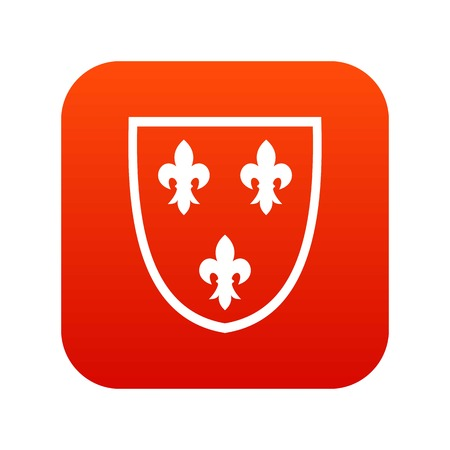 Crest icon digital red