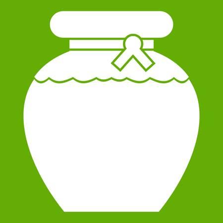Honey icon green illustration.