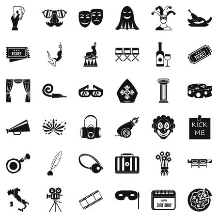 Staging icons set. Simple set of 36 staging vector icons for web isolated on white background Illustration