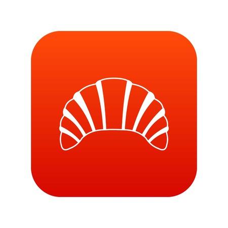 Digitales Rot der Hörnchenikone für irgendein Design lokalisiert auf weißer Vektorillustration