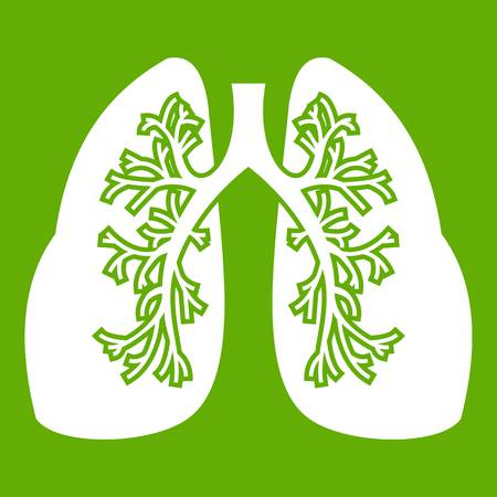 Lungs icon green Illustration