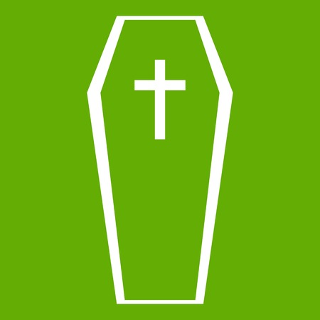Coffin icon green Illustration