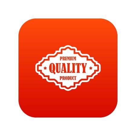 Premium kwaliteit product label pictogram digitaal rood voor elk ontwerp geïsoleerd op witte vectorillustratie Stock Illustratie