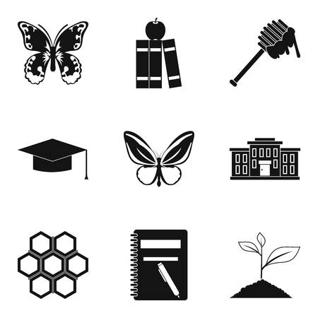 Beetle icons set. Simple set of 9 beetle vector icons for web isolated on white background Illustration