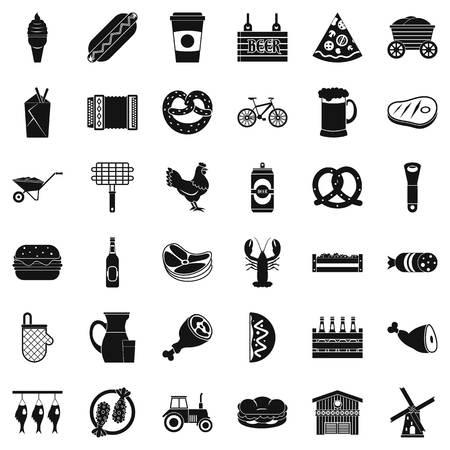 Set di icone speciali, stile semplice Archivio Fotografico - 94498813