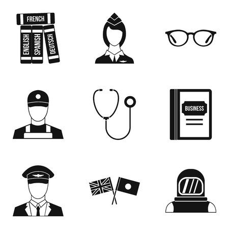 Sensible icons set, simple style Illustration