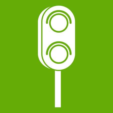 Semaphore trafficlight icon green