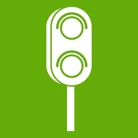 Semaphore trafficlight icon green
