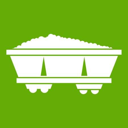 Coal trolley icon green
