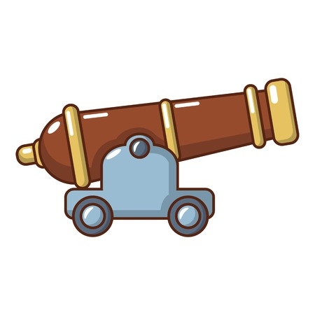 Cannon icon. Cartoon illustration of cannon vector icon for web.