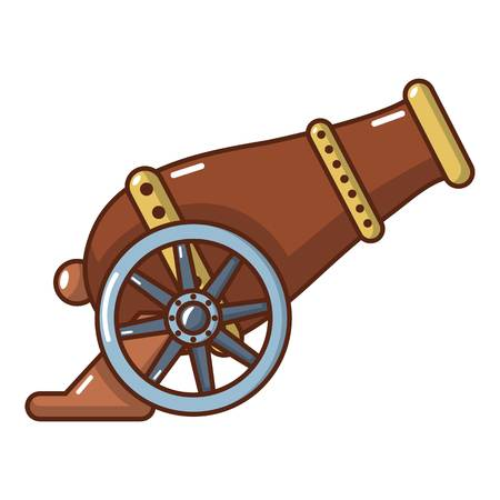 Automatic gun icon. Cartoon illustration of automatic gun vector icon for web. Illustration