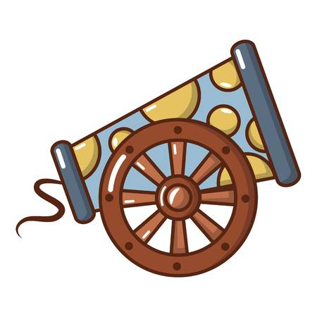 Cast-iron cannon icon. Cartoon illustration of cast-iron cannon vector icon for web. 일러스트