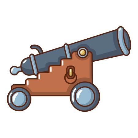 Siege gun icon. Cartoon illustration of siege gun vector icon for web. Çizim
