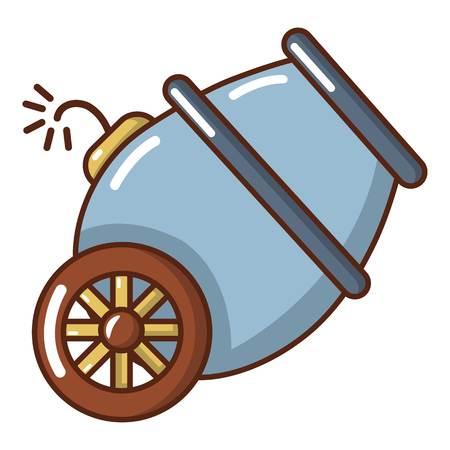 Fire gun icon. Cartoon illustration of fire gun vector icon for web. Illustration