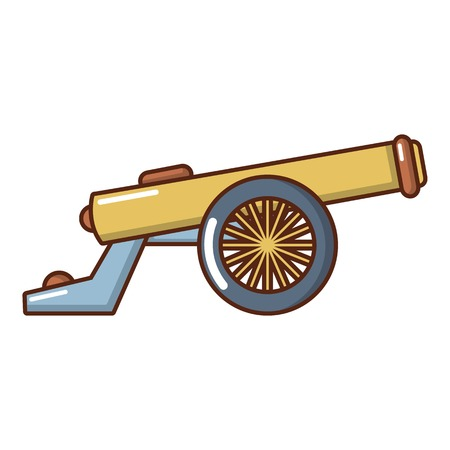 Shooting gun icon. Cartoon illustration of shooting gun vector icon for web. Illustration