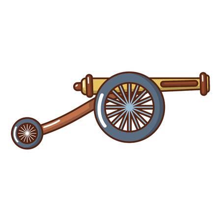 Artillery cannon icon. Cartoon illustration of artillery cannon vector icon for web.