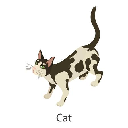 Cat icon. Isometric illustration of cat vector icon for web Illustration