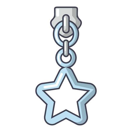 Star zip icon. Cartoon illustration of star zip vector icon for web