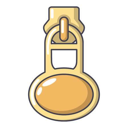 Overcoat zip icon  cartoon illustration.