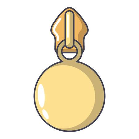 Ball zip icon  cartoon illustration.