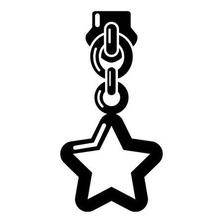 Star zip icon. Simple illustration of star zip vector icon for web
