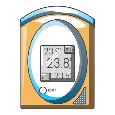 Medical tonometer icon. Cartoon illustration of medical tonometer vector icon for web Illustration