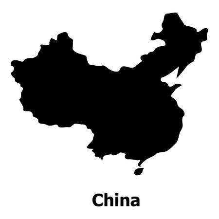 China map icon. Simple illustration of china map vector icon for web Illustration