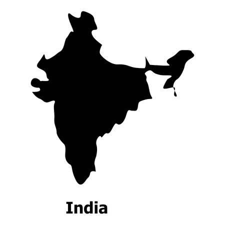 India map icon. Simple illustration of india map vector icon for web Illustration