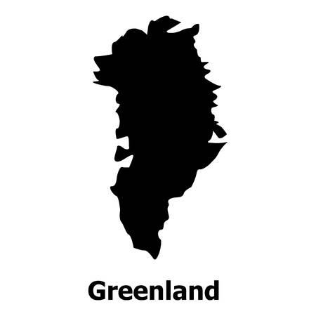 Groenland Kaartpictogram. Eenvoudige illustratie van het kaartpictogram van Groenland voor web