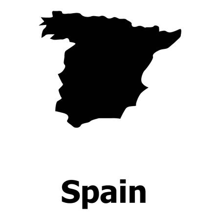 Spain map icon. Simple illustration of spain map vector icon for web