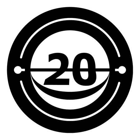 Round calendar icon. Simple illustration of round calendar vector icon for web Illustration