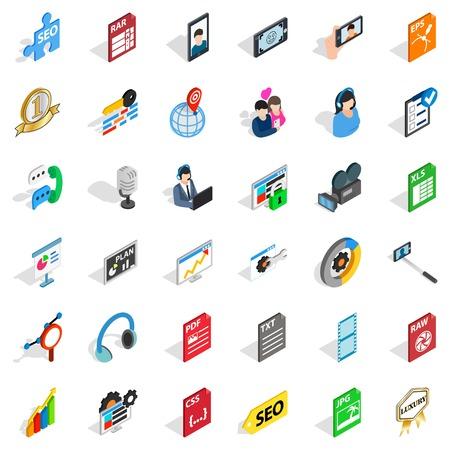 Mass press icons set Иллюстрация