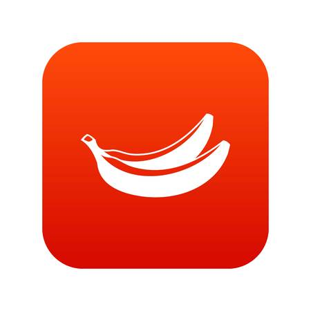 Banana icon digital red for any design isolated on white vector illustration