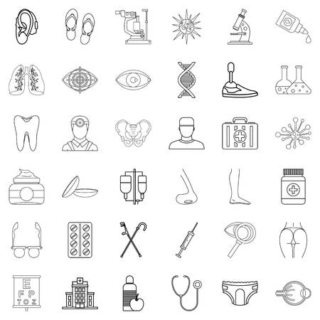 Wellness icons set. Outline set of 36 wellness vector icons for web isolated on white background